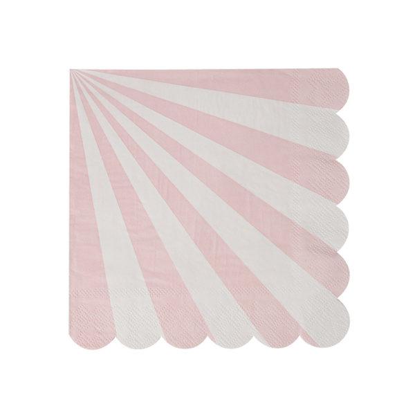 pink striped napkin