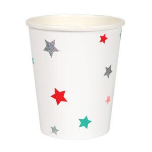 star pattern cups
