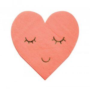 χαρτοπετσέτες καρδιά