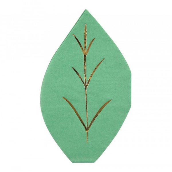Green leaf napkins