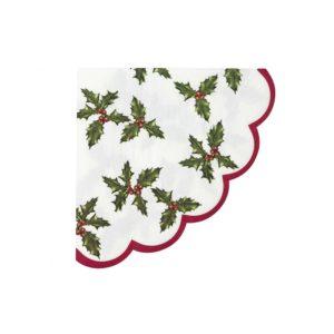 red berry napkin