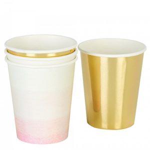gold pink ποτηρια