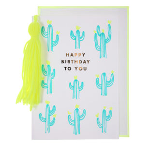 cactus and tassels