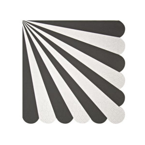 black stripe napkin