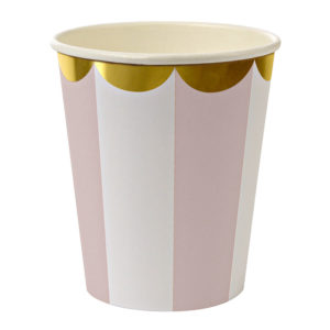 pink striped cup