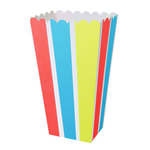 pop corn stripe box