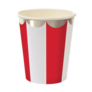 cups red striped