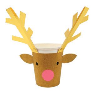 reindeer sleeves cups