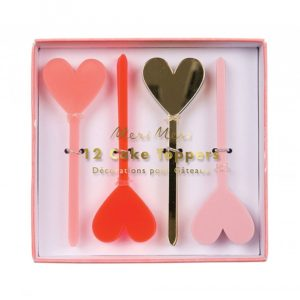Heart Cake Toppers